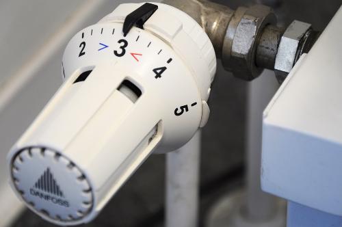 Bouton de chauffage réduire sa facture de gaz
