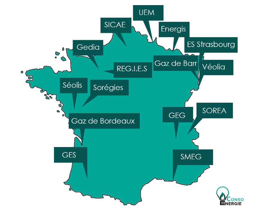 Carte des ELD en France