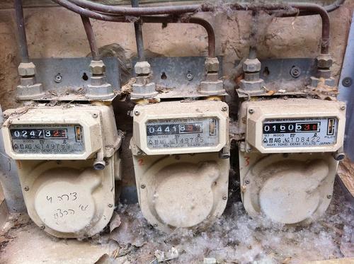 Anciens compteurs de gaz